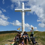 Cross @ Summit of Mont Clocher @ Hike to Mont Clocher & Mont de Vorès thumbnail
