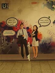 Wer blöd fragt … (mkorsakov) Tags: dortmund city innenstadt hbf bahnhof mainstation unterführung passage werbung commercial baustelle constructionsite murketing wtf blödefrage blödeantwort