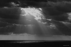 A spot of light (DirkVandeVelde back , and catching up) Tags: europa europe europ frankrijk france côtedopale bercksurmer nordpasdecalais sony sea mer meer noirblanc zwartwit buiten outdoor beach strand plage blackandwhite
