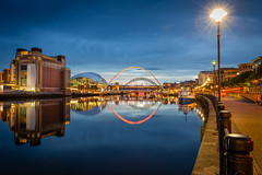 Newcastle Quayside (andrew drinkwater) Tags: quayside newcastle tyne millenium bridge baltic sage uk england reflections lights colour