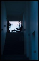 Step into the light (Celtis Australis) Tags: stairs corridor dusk helios44258mmf2 figures