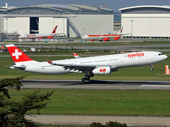 F-WWYX Airbus A330 Swiss (@Eurospot) Tags: hbjha fwwyx airbus a330 a330300 swiss toulouse blagnac