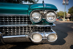 1959 Cadillac less Photographed Front View (Photos By Clark) Tags: subjects california vehicles canon5div unitedstates location northamerica canon1740 locale places where escondido us 1959 grille lights restored classic auto show