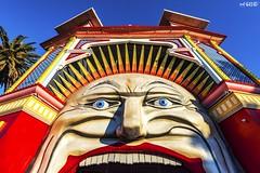 Beaming (red stilletto) Tags: stkilda stkildamelbourne stkildabeach thepalaistheatre lunapark lunaparkstkilda amusementpark theatre