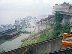 River Cruisers at Chonqing (hugh llewelyn) Tags: yangtzeriver