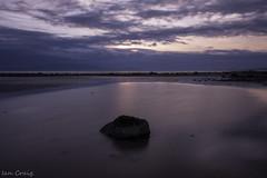 ardrossan beach31-08-18 (ia.n) Tags: sea sunset seascape water arran ayrshire scotland boulder stone sony a700 alpha ardrossan north sky island