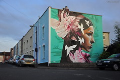 The Lookout Point (HiJinKs Media...) Tags: graffiti streetart street road cars houses homes wall colours colori colors colores face art architecture garden life lines sky skyline upfest2018 upfest bristol bright colourful colorful summer