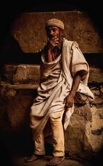 Orthodox Pilgrim (Rod Waddington) Tags: africa african afrique afrika äthiopien ethiopia ethiopian ethnic etiopia ethnicity ethiopie etiopian lalibela church culture cultural christianity christian orthodox tigray pilgrim rock wood cave shamma cap old man