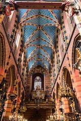 St. Mary's Basilica, Kraków (spipra) Tags: krakow poland church interior architecture landmark monument heritage cathidral religion christianity