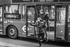 Jump (Henka69) Tags: streetphotography monochrome publictransportation london