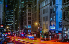 irish bank (pbo31) Tags: bayarea california nikon d810 color september 2018 summer boury pbo31 sanfrancisco night dark city urban black lightstream motion roadway traffic infinity financialdistrict bushstreet red