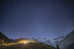 Magia / Magic (Gressonney La Trinitè, Valle D'Aosta, Italy) (AndreaPucci) Tags: valledaosta italy italia gressoney mountrosa andreapucci night star shooting village
