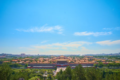 2018 Beijing - Jing Shan 08 (C & R Driver-Burgess) Tags: garden park plants trees sunny imperial beijing gugong forbiddencity buildings elaborate decoration ceremonial golden red rooftops pagoda
