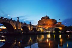 Castel Sant'Angelo (fabsit) Tags: rome italy castelsantangelo bluehour longexposure