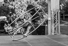 Hannah Cryle, Big Wheel. (Nance Fleming) Tags: hannahcryle bigwheel busker toronto torontointernationalbuskerfestival performer athletic