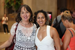 with Mary (I'm so sweaty) (olive witch) Tags: 2018 abeerhoque aug18 august day fem indoors museum nyc pair