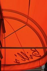 Brewer St. 6sep18 (richardbw9) Tags: london uk westminster city street urban streetshot streetphoto streetphotography bills restaurant awning orange brewerstreet canopy reverse greatpulteneystreet curve strut frame signature