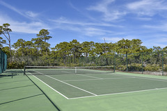 Playing Tennis (ckorfanty) Tags: nature tennis court tree trees green sky clouds st george island plantation