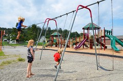 Swings (Joe Shlabotnik) Tags: 2018 august2018 proudparents fortkent violet sue maine aroostook everett swings playground afsdxvrzoomnikkor18105mmf3556ged