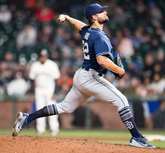 Hand (hboi150891) Tags: mlb padres vs giants san francisco usa 30 apr 2018 diego relief pitcher brad hand 52 closes ninth inning during a game between at att park california sport personality 71156933