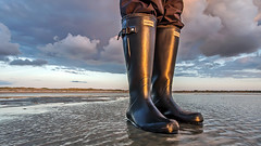 Hunter rubber boots evening sun (Anton Stiefel) Tags: gummistiefel hunter rubber boots