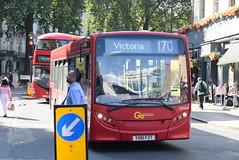GAL SEN34 @ London Victoria bus station (ianjpoole) Tags: goahead london general alexander dennis enviro 200 yx61fzt sen34 working route 170 danebury avenue minstead gardens victoria bus station