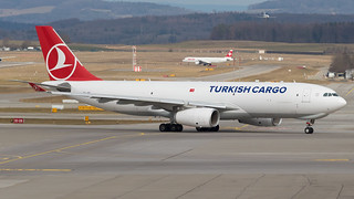 ZRH - Turkish Airlines Cargo Airbus A330-200F TC-JOZ