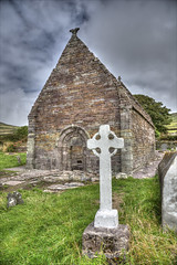Kilmalkedar Church (Runemaker) Tags: kilmalkedar church saintbrendan dingle countykerry architecture ireland medieval ruin hdr grave graveyard cemetery irish cross