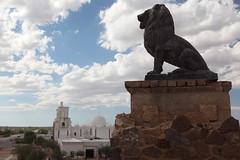 guardian (1600 Squirrels) Tags: 1600squirrels photo 5dii lenstagged canon24105f4 statue lion church spanish mission san xavier del bac sanxavierdelbac tucson arizona usa