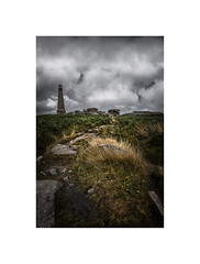 The Lookout (silver/halide) Tags: carnbrea cornwall poldark johnbaker granite bassetmonument landscape lookout neolithic
