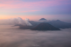 First Light (Hilton Chen) Tags: serumi seaofclouds sunrise mountbromo dawn landscape batok misty indonesia serunipenanjakanviewpoint java ethereal sukapura jawatimur id