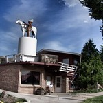 Miles City Montana - Hair Salon - Downtown - Indian and Horse Statue thumbnail