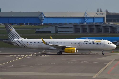 """Mason Wartman"" Vueling Airlines EC-MMU Airbus A321-231 Sharklets cn/7218 @ EHAM / AMS 05-04-2018"