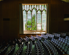 McCosh Hall Auditorium in August Light, Princeton University (hilarybachelder) Tags: a7rii august architecture beautiful composition color dof depthoffield 35mm wideangle ete fullframe frame green geometric geometry gmaster illuminated leadinglines light lines leading leaves auditorium englishdepartment englishdept mirrorless mccosh mccoshhall mccoshauditorium mccoshhallauditorium mccoshhallprincetonuniversity negativespace peaceful pov pointofview pattern quiet tranquil repetition sony sonya7rii season tree university princetonuniversity vantagepoint viewpoint vivid view sony163528 gmaster163528 sony1635 1635mm sun sunlight academic ivyleague newjersey zoom