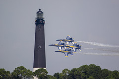 Blue Angels Rehearsal (DFChurch) Tags: fortpickens pensacola beach usa navy lighthouse nas blue angels jet f18 airshow florida