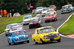 HSCC/HRSR Historic Touring Cars (MPH94) Tags: oulton park historic sports car club hscc auto cars motor sport motorsport race racing motorracing classic north west cheshire hrsr touring ford cortina lotus hillman imp mini cooper mustang
