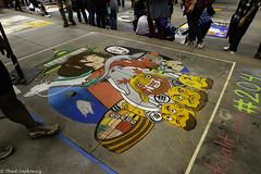 Cartoon Chalk Art (Thad Zajdowicz) Tags: zajdowicz pasadena california usa travel canon eos 5d3 5dmarkiii dslr digital availablelight lightroom outside outdoors chalkfestival carshow ef24105mmf4lisusm street urban city art chalk sidewalk people cartoon color