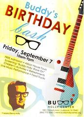 Buddy's Birthday Bash (booboo_babies) Tags: buddyhollycenter buddyholly yellow advertisement september72018 1950s music musicalinstrument rock rockandroll rockstar earlyrockandroll september7 birthday