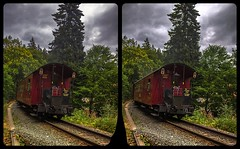 Departure 3-D / CrossEye / Stereoscopy / HDRaw (Stereotron) Tags: sachsenanhalt saxonyanhalt ostfalen harz mountains gebirge ostfalia hardt hart hercynia harzgau train locomotive vintage historical antiquated wagon platform elend europe germany deutschland cross eye view xview crosseye pair free sidebyside sbs kreuzblick bildpaar 3d photo image stereo spatial stereophoto stereophotography stereoscopic stereoscopy stereotron threedimensional stereoview stereophotomaker photography picture raumbild twin canon eos 550d remote control synchron kitlens 1855mm 100v10f tonemapping hdr hdri raw