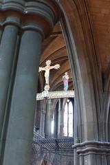 St Alban's Church, Highgate (carolyngifford) Tags: stalbanshighgate church birmingham column vaulting roodscreen