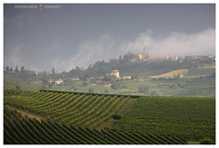 Prime nebbie (GP Camera) Tags: nikond7100 nikonafsdx55300mmf4556gedvr view veduta landscape paesaggio countryside campagna hills colline latesummer tardaestate mist nebbia vapors vapori vineyards vigneti fields campi village villaggio trees alberi clouds nuvole sky cielo stormysky cielotempestoso houses case afternoon pomeriggio lightandshadows lucieombre textures trame shades sfumature depthoffield profonditàdicampo viewpoint puntodivista whiteframe cornicebianca italy italia piemonte monferrato darktable gimp opensource freesoftware softwarelibero digitalprocessing elaborazionedigitale