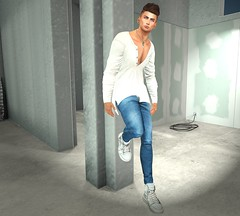 #79 Checking out the contruction (maurorosenfeldsl) Tags: secondlife stealthic belleza jake catwa daniel guy buy boy dude underground virtual model to go cage fence leaning hair bento skin shape applier avatar mesh mandala ears body clothes poses building shop streets clefdepeau clef nature landscape virtualfashion virtualmen virtualman avi secondlifemen tmd tmdevent portrait fameshed ascend valekoer construction backdropcity amias