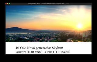 REVIEW: Nová generácia Skylum AuroraHDR 2018! #PHOTOFRANO