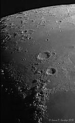 Aristoteles and Eudoxus - Daytime Image (Zeta_Ori) Tags: celestron8edgehd celestronadvancedvxmount zwoasi290mm eudoxus aristoteles luna moon selene lunarterminator lunarlandscape backyardastronomy monochrome grayscale contrast chiaroscuro sharpcap31 autostakkert3 pipp