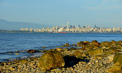 Vancouver skyline (afagen) Tags: vancouver britishcolumbia bc canada acadiabeach beach burrardinlet skyline