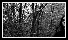 Tree portrait (Bo Dudas) Tags: tree forest woods girl portrait bw bnw black blackwhite blackandwhite mono monochrome balance composition