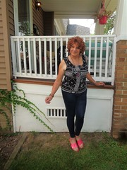 I Don't Ordinarily Wear Pants Or Leggings . . . (Laurette Victoria) Tags: leggings redhead curly woman laurette