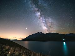 P8110790_DxO (erripollo) Tags: stars milkyway lake longexposure mountain summer olympus em5markii laowa m43 moncenisio