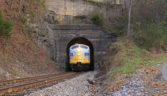 Haysi Tunnel (GLC 392) Tags: haysi va virginia tunnel thanks bro russel fork river city hill mountain light crr clinchfield 800 csx csxt railroad railway train emd sd45 sd452 f40ph 2017 santa express 75th anniversary 3632 9992 9999 load out holler hollar trees christmas merry passenger vlix vintage locomotive works southern appalachian museum f3au fp7a sbvr road tree bridge water forest grass clinchco car 2018
