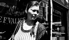 Searching for the key to set her free... (Baz 120) Tags: candid candidstreet candidportrait city candidface candidphotography contrast sony a7 rome roma europe women monochrome monotone mono noiretblanc blackandwhite bw urban life primelens portrait people pentax20mm28 italy italia grittystreetphotography faces decisivemoment strangers